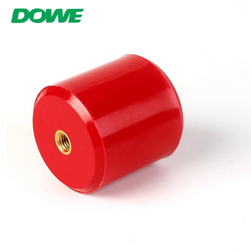 Support d'espacement d'isolateur de barre omnibus Support d'isolateur rouge cylindrique de MNS Prix d'isolateur en plastique adapté aux besoins du client