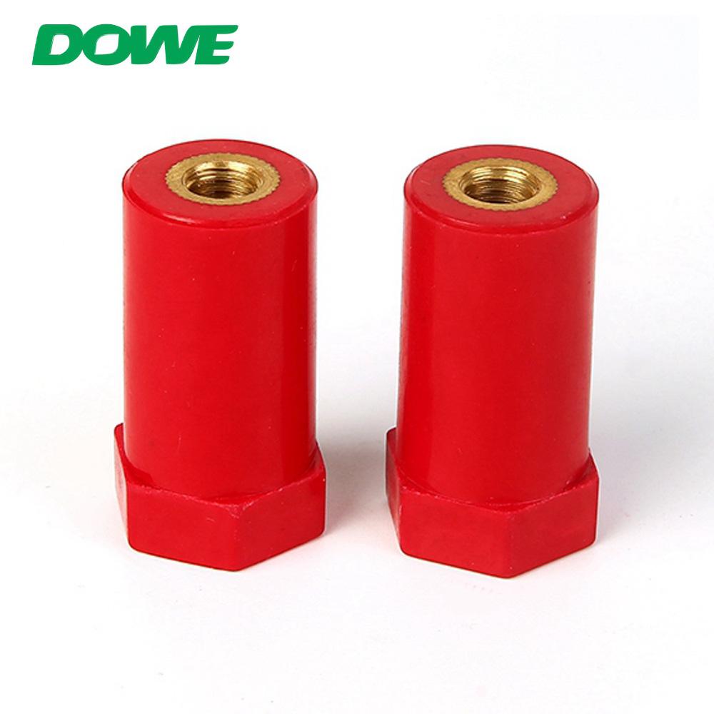 Isolateur d'espacement d'isolant de barre omnibus époxy basse tension de Support électrique de DOWE SB20X40M8 pour la construction de panneau de commande avec la vis en laiton