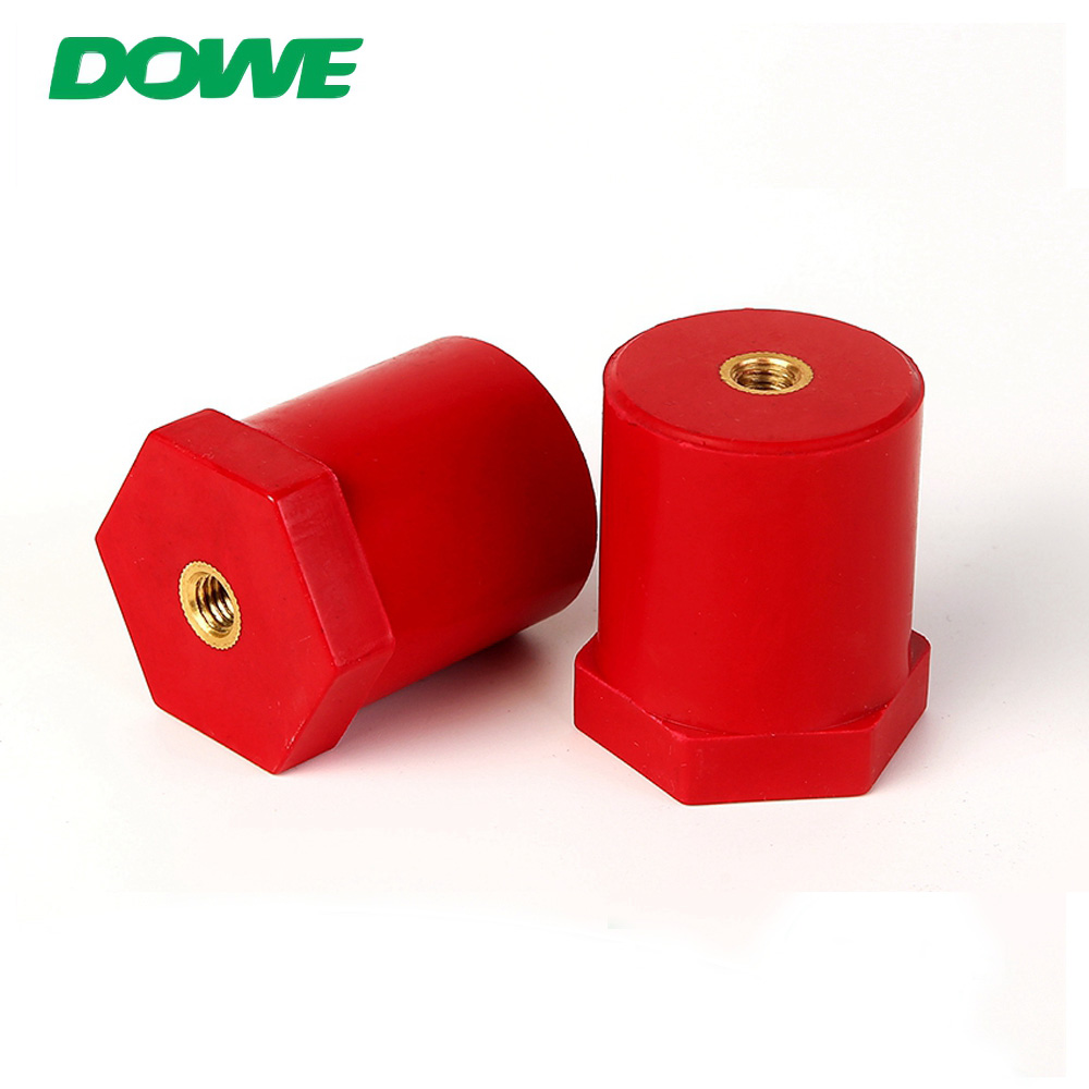 Isolateurs de barre omnibus à vis hexagonale ronde rouge pour batterie DOWE SB30X40