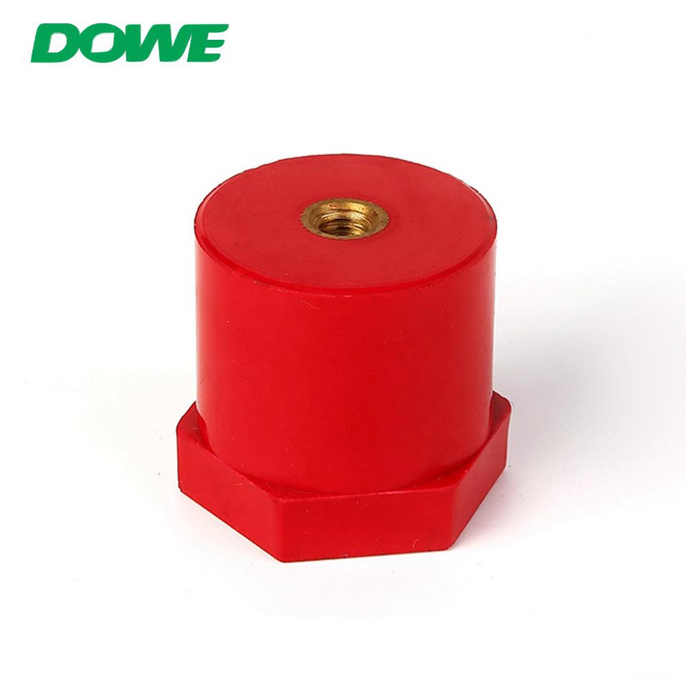 Isolateurs de barre omnibus à vis hexagonale ronde rouge pour batterie DOWE SB40X40 M8