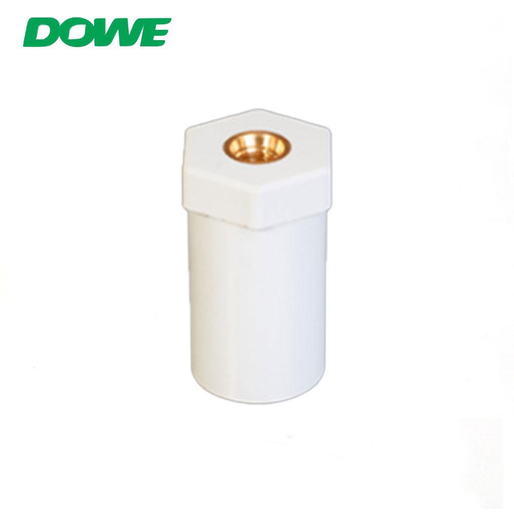 Type rond hexagonal en plastique de connecteurs de batterie d'isolateur de barre omnibus de cuivre de DOWE SB25X45 M6