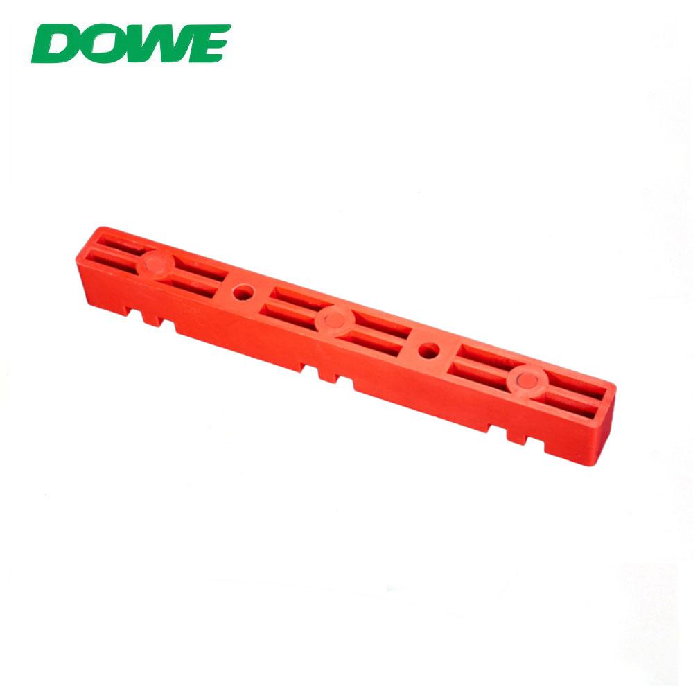 Support d'isolation de barre omnibus de la pince d'isolation rouge en fibre de verre DOWE pour l'appareillage de commutation basse tension