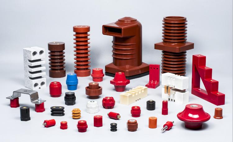 Isolateur composé de résine époxyde de suspension de l'isolateur 10kv électrique de barre omnibus pour le Cabinet à haute tension
